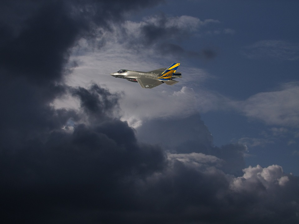 Clouds, Dramatic Clouds, Fighter Jet, Jet