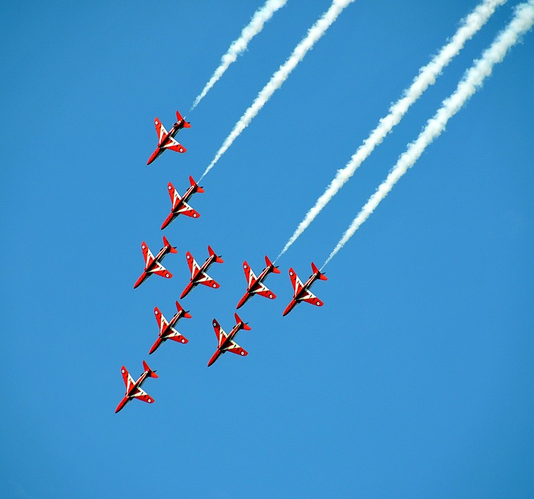 Airshow, Fighter Jets, Aerobatic, Fighter, Aviation