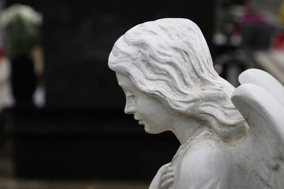 Angel, Statue, Sculpture, Figure, Wing, Stone