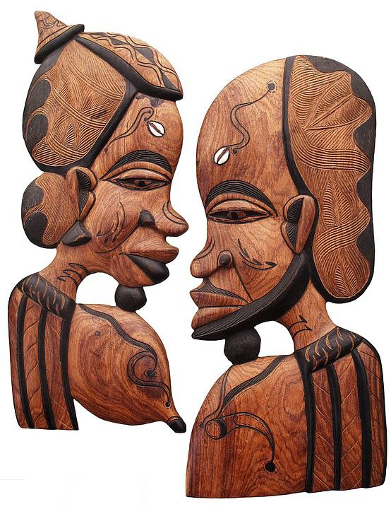 Wooden Mask, Africa, Carved, Figure, Art, Magic