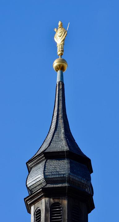 Spire, Steeple, Gold, Bishop, Figure, Fortress