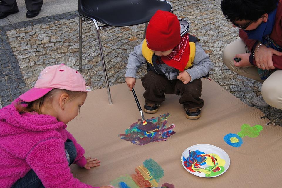Painting, Child, Arts, Fun, Figure, Color, Colors