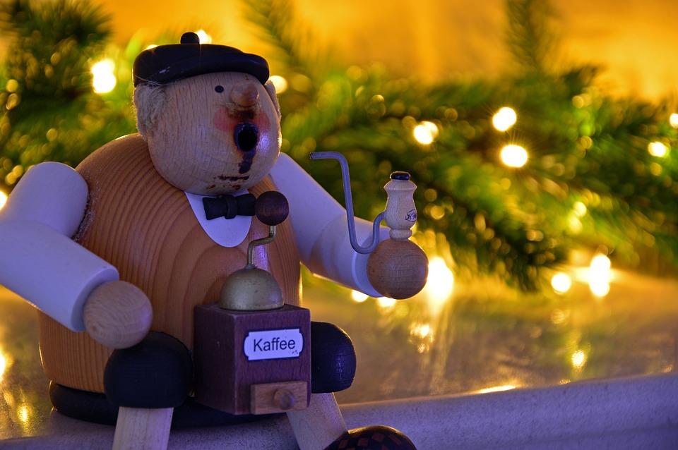 Decoration, Christmas, Smoking Man, Figure, Wood