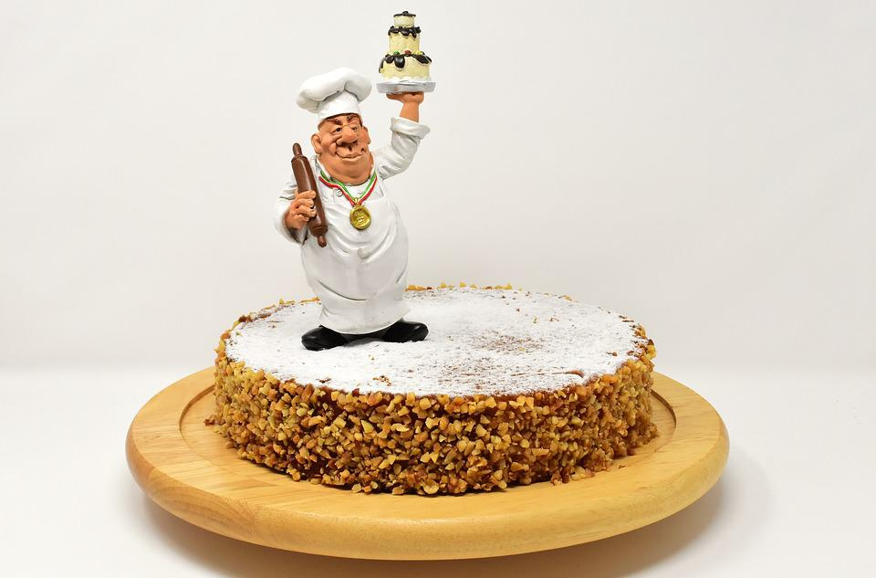 Pastry Chef, Cake, Carrot Cake, Figure, Cute, Funny