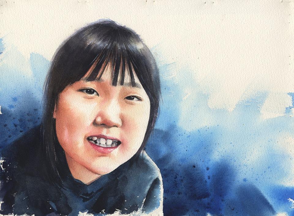Watercolor Portrait, Figure Paintings, Figure