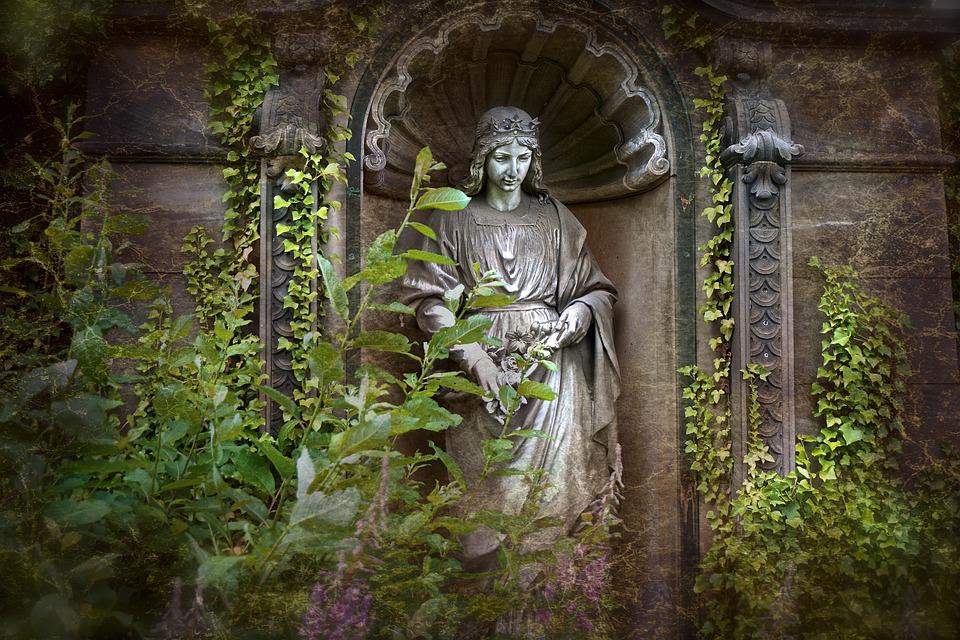 Angel, Figure, Cemetery, Grave, Stone Figure