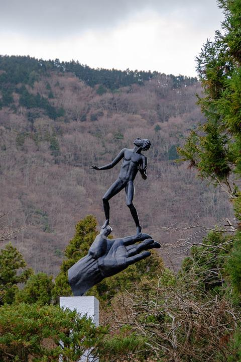 Hakone Open-air Museum, Sculpture, Hand, Figure, Man