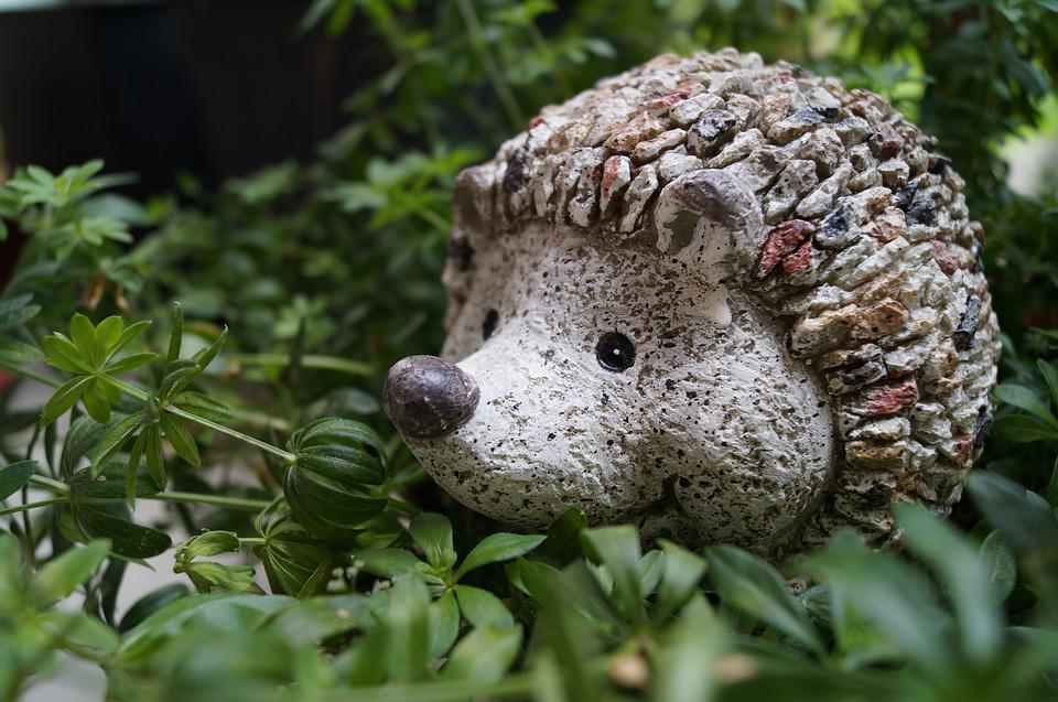 Hedgehog, Garden, Decoration, Figure, Garden Design