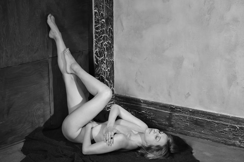 Woman, Nude, Body, Figure, Skin, Naked, On The Floor