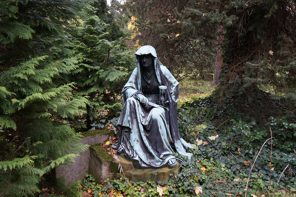 Figure, Old, Weathered, Old Cemetery, Statue