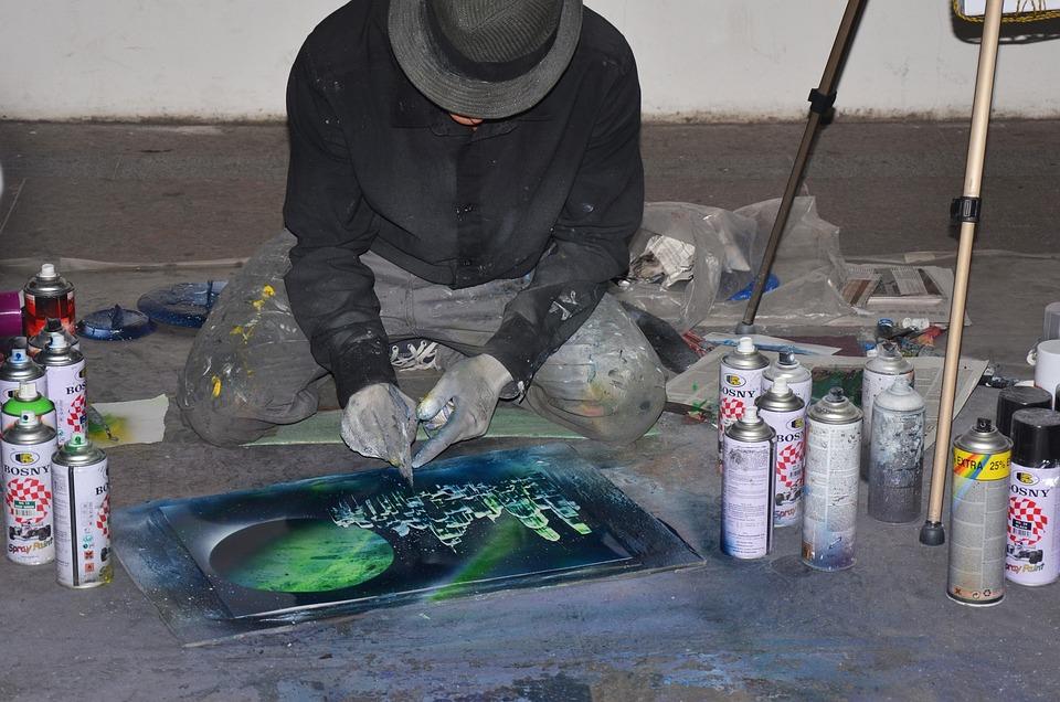Artist, Picture, Figure, Hat, Creativity, Paint