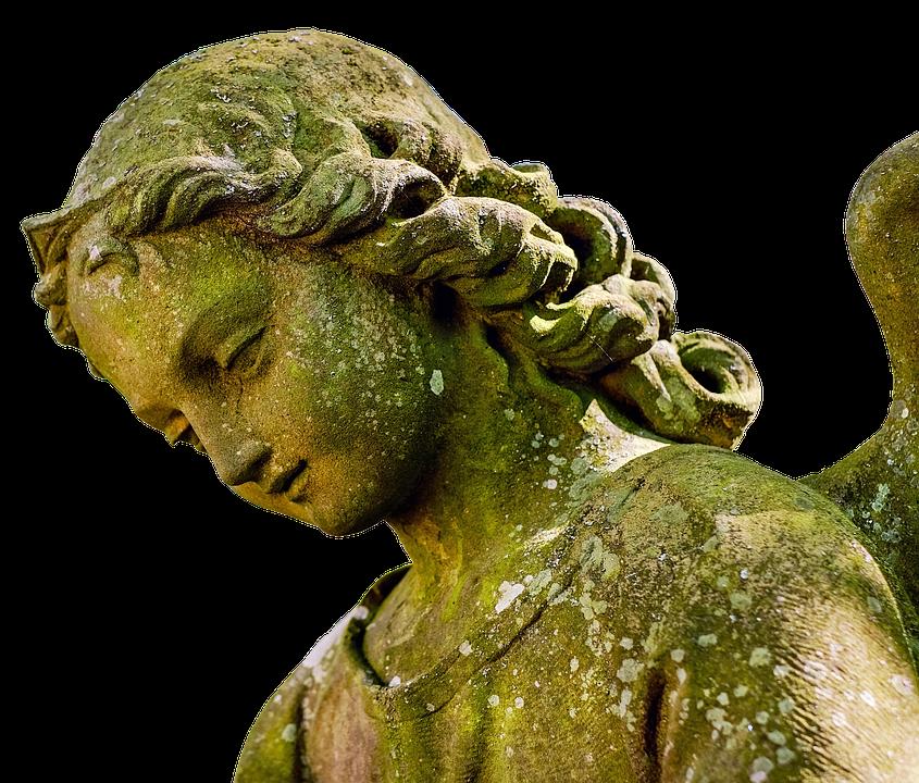 Angel, Face, Statue, Figure, Sculpture, Tombstone