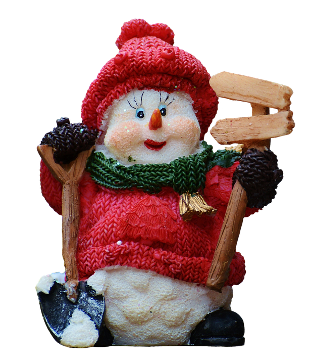Snow Man, Figure, Christmas, Cute, Cropping, Isolated