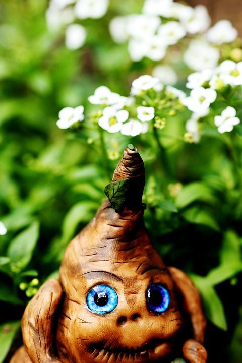 Toy, Figure, Miniature, Flowers, Summer, Garden