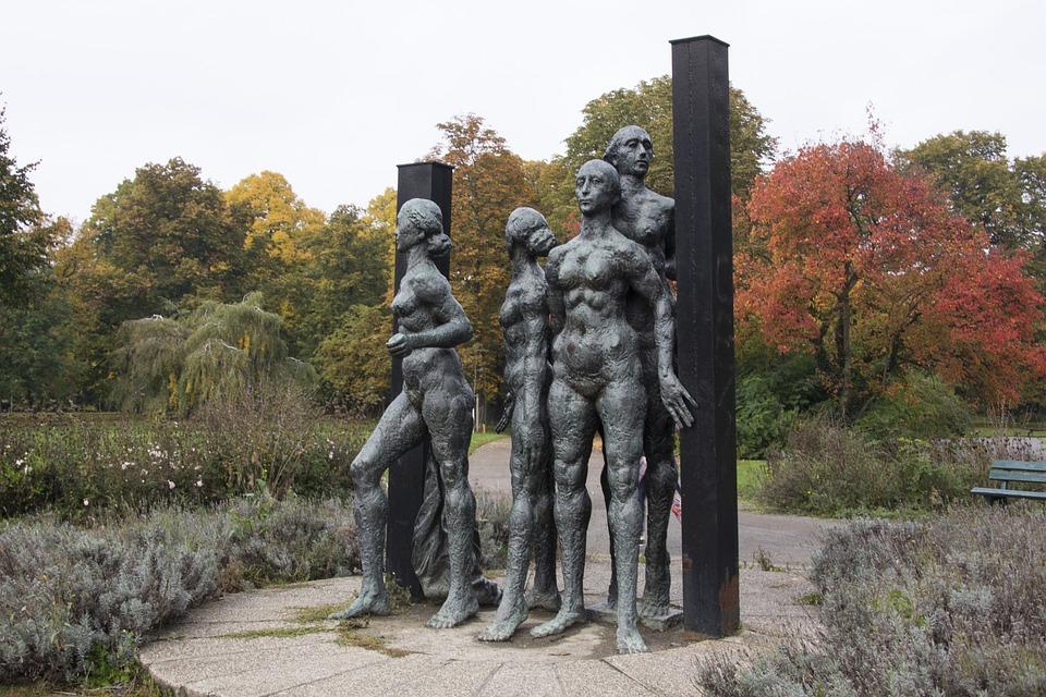 Leipzig, Figures, Bronze, Bronze Statue, Sculpture