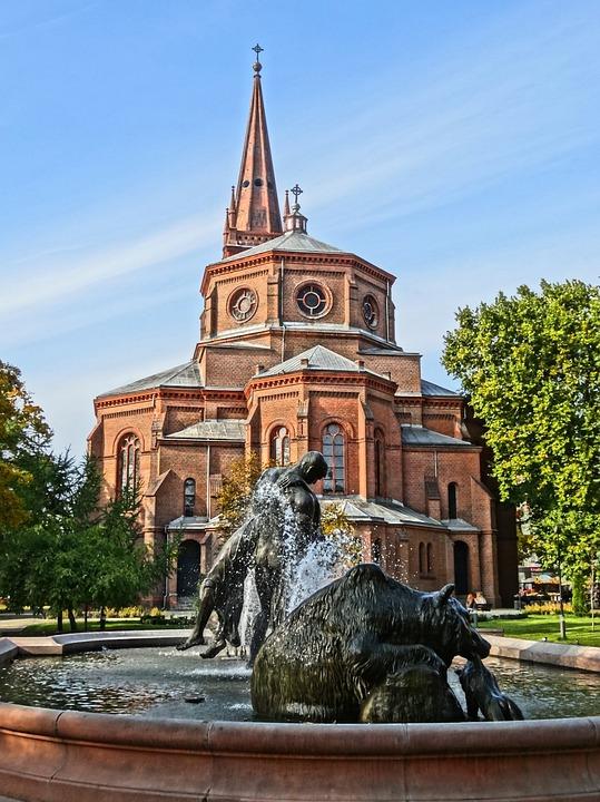 Deluge Fountain, Bydgoszcz, Sculpture, Water, Figures