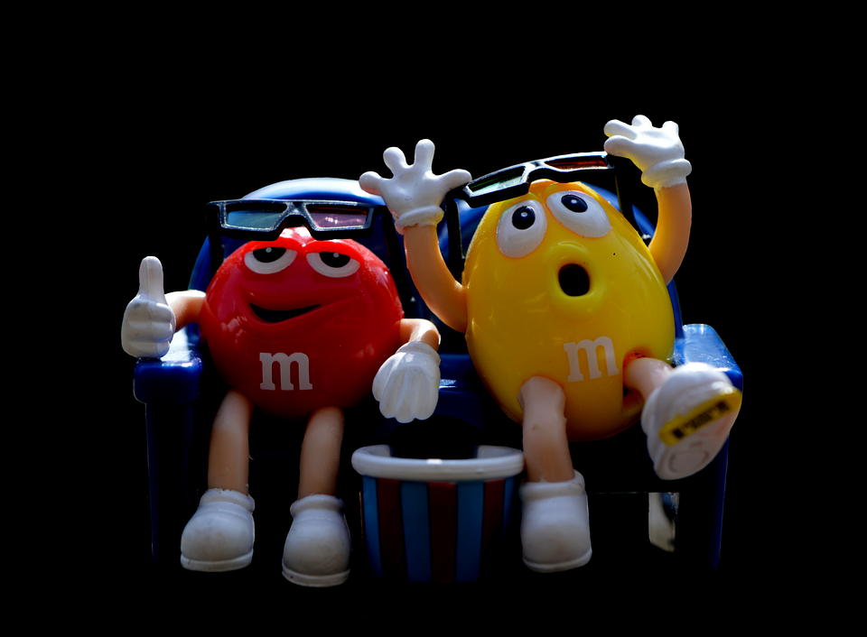 M M's, Candy, Funny, Fun, 3-d Glasses, Figures