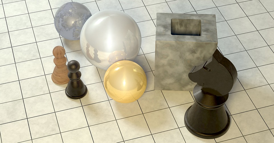 Chess, Figures, Chess Pieces, Horse, Bauer, Balls, Gold
