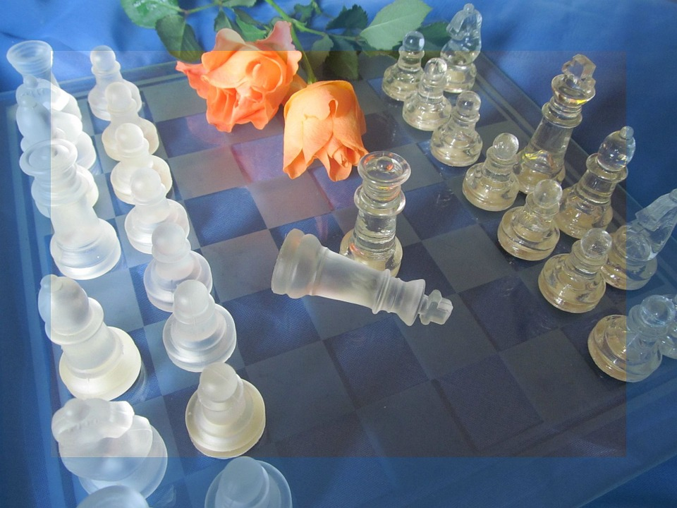 Chess, Roses, Chess Game, Chess Pieces, Figures