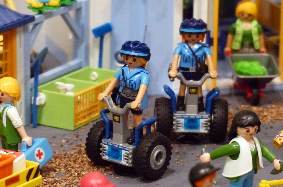 Playmobil, Exhibition, Toys, Figures, Police, Segway