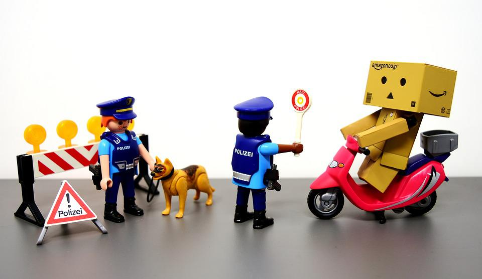 Traffic Control, Police, Figures, Police Officers