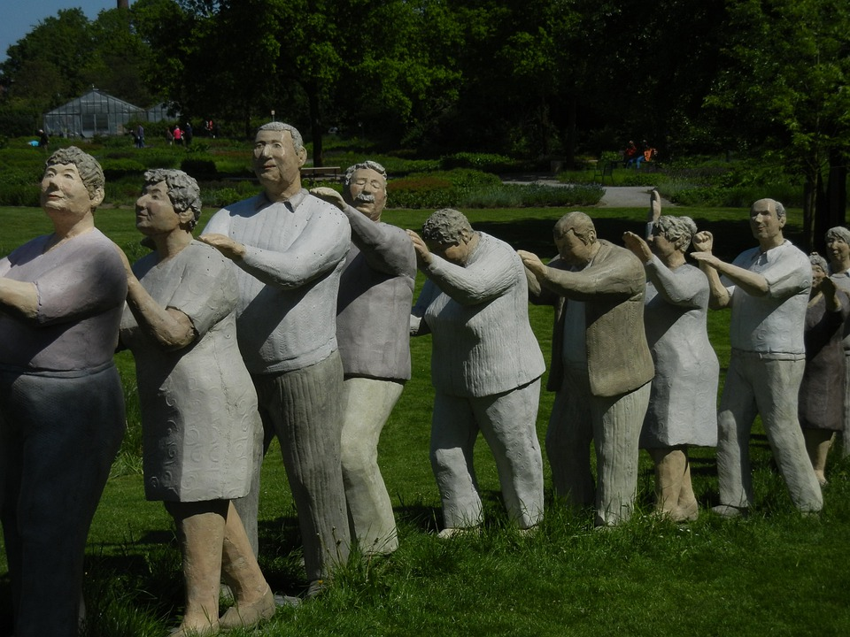 People, Human Snake, Figures, Sculpture, Human, Art