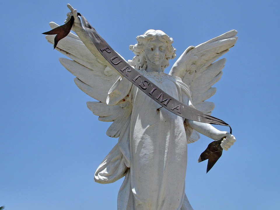 Cuba, Angel, Cemetery, Pure, Grave, Wings, Figurine