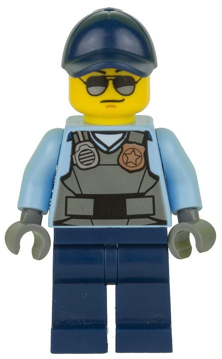 Lego, Figurine, Police, Policeman