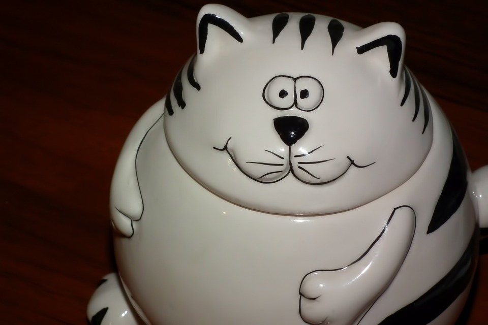Cat, Porcelain, Figurine, Tableware, Sugar Bowl