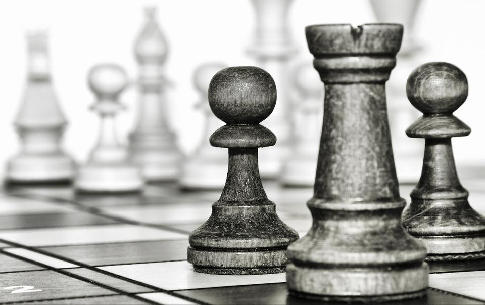 Chess, Game, Tower, Pawn, Figurines, Checkerboard