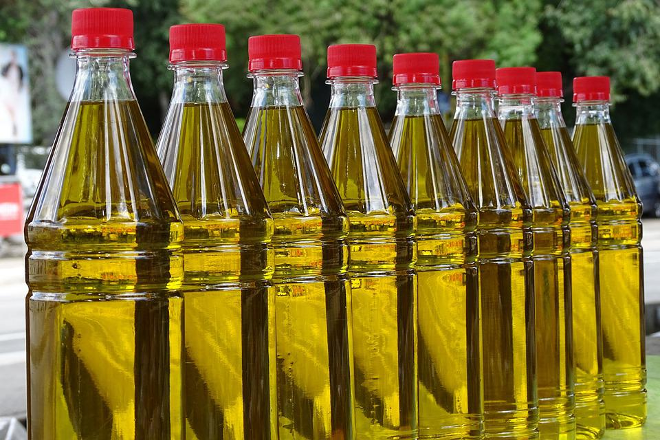 Olive Oil, Market, Oil, Food, Filled, Eat, Bottles
