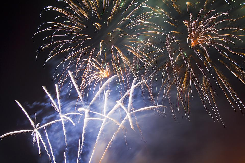 Fireworks, Finale, White, Festive, Festivity