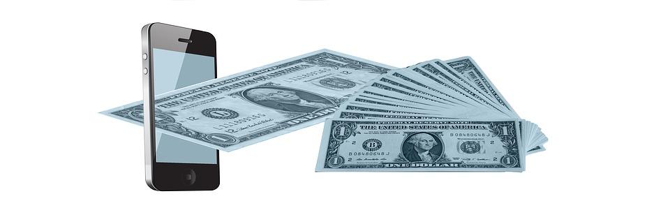 Mobile Phone, Dollar, Money, Finance, Online Banking