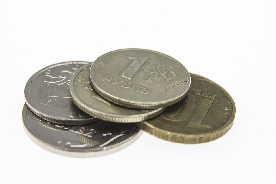 Finances, Financial, Symbol, Ruble, Money, Coins
