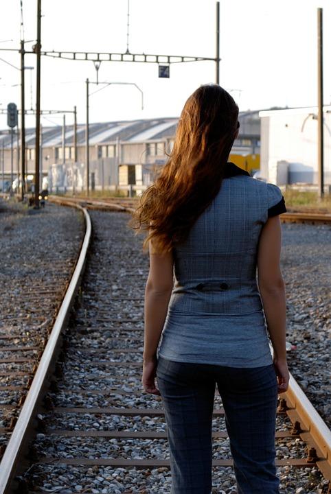 Woman, Business, Train, Financial, Finance, White