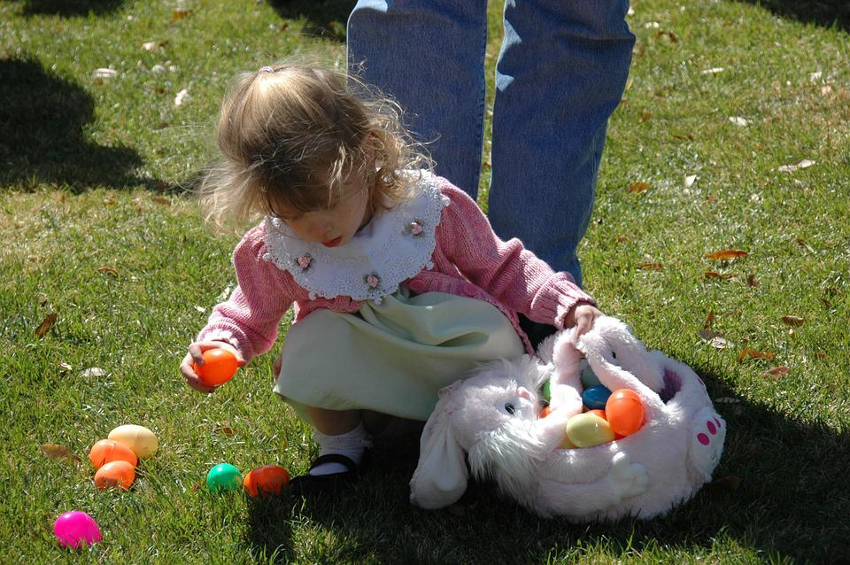 Easter Eggs, Search, Child, Girl, Find, Young, Infant