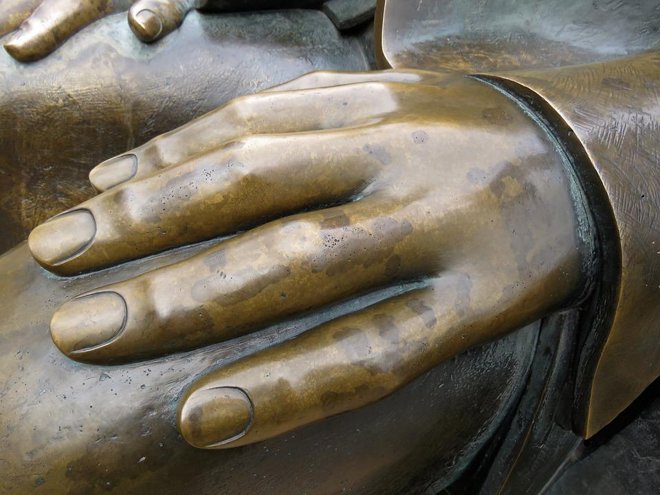 Hand, Finger, Fingernails, Human, Sculpture, Bronze