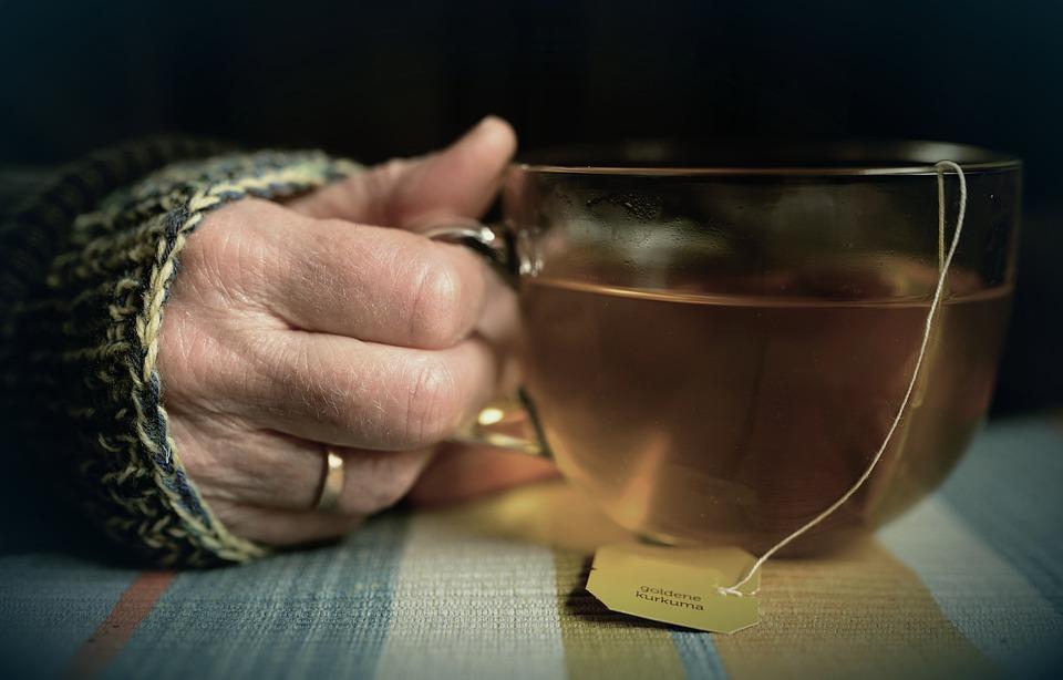 Tee, Teacup, Tea Bags, Turmeric Tea, Hand, Finger