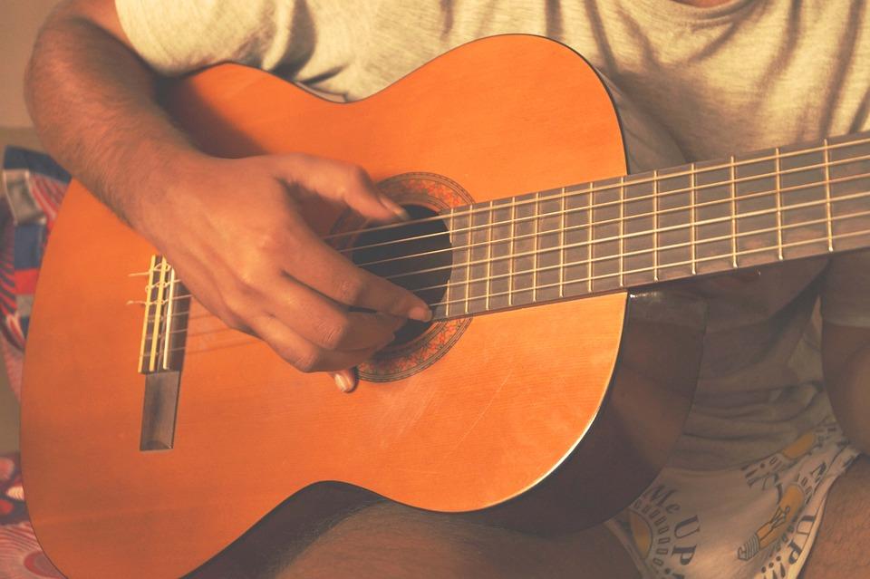 Spanish, Guitar, Fingering, Instrument, Summer, Men