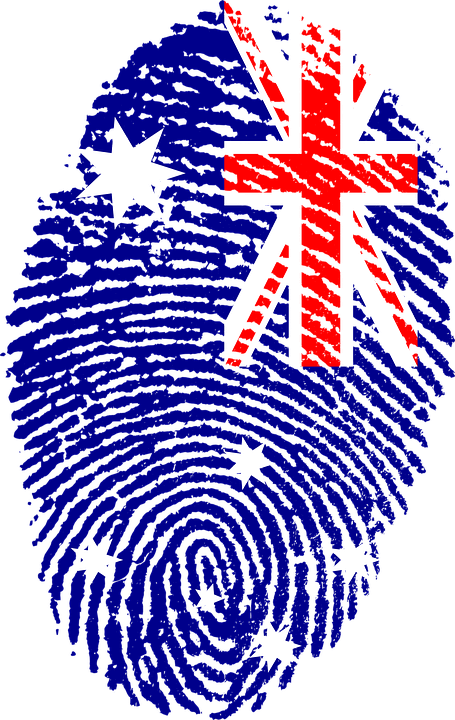 Australia, Flag, Fingerprint, Country, Pride, Identity