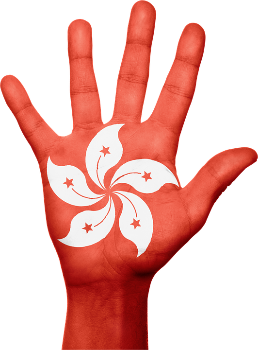 Hong Kong, Flag, Hand, National, Fingers, Patriotic