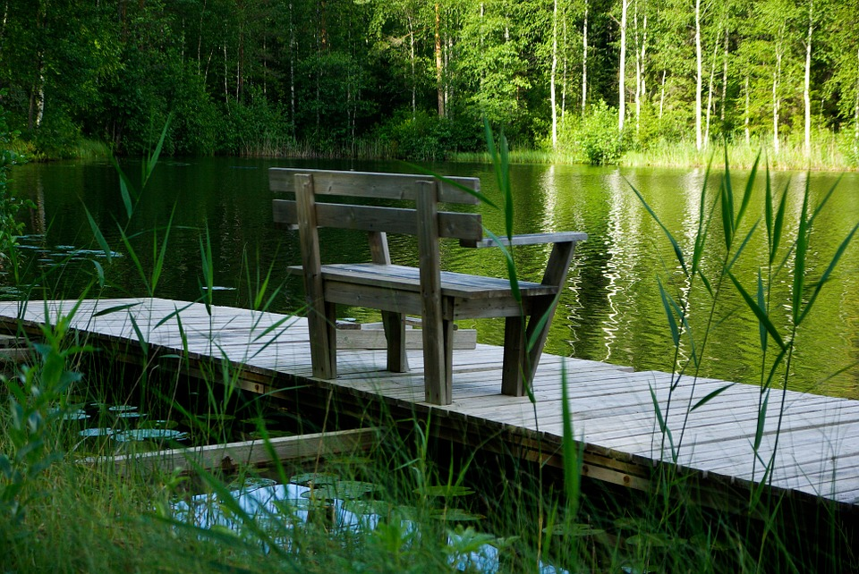 Finland, Lake, Bench, Solitude, Forest