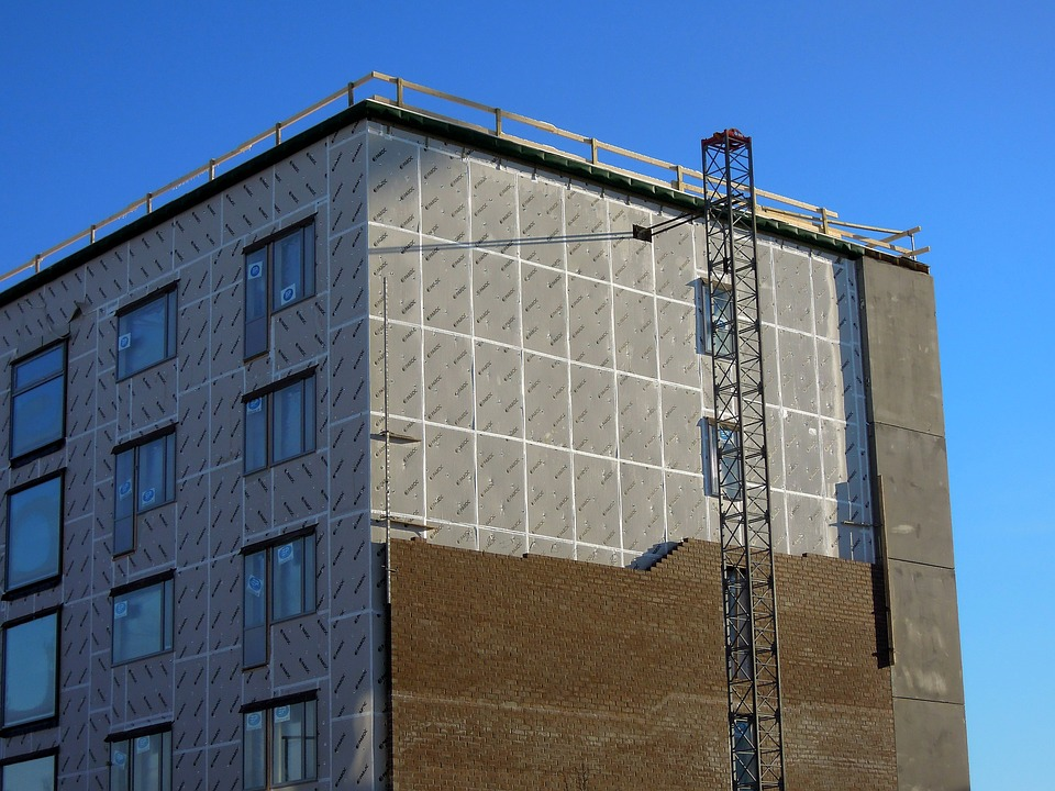 Construction Site, Block Of Flats, Finnish, Windows