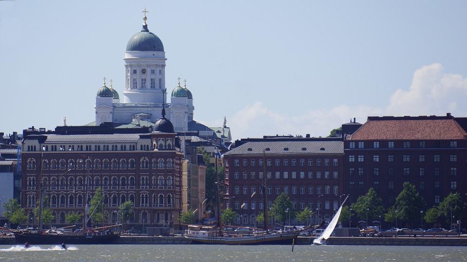 Finnish, Helsinki, North Shore, Cathedral, Sailing Ship