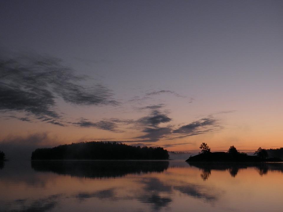 Finnish, Savonlinna, Saimaa, Water, Lake, Sunrise