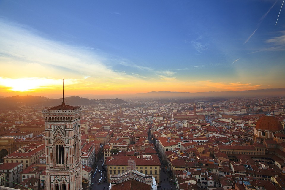 Florence, Fiore, Church, Sunset