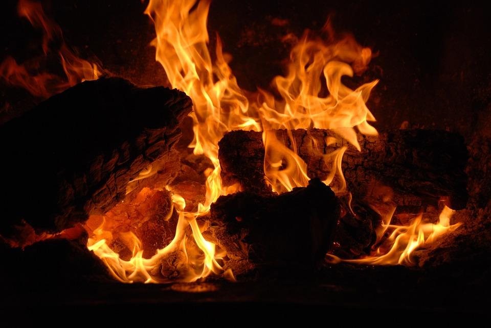 Fire, Hot, Warm, Fiery, Black Fire