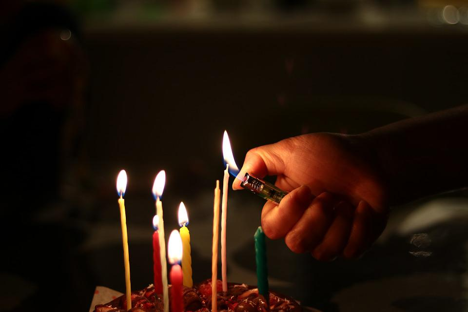 Candle Fire Cake Flame Light The Of A