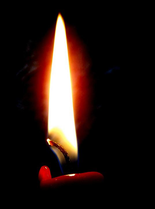 Fire, Burning, Flame, Wax, Candle, Lights, Black