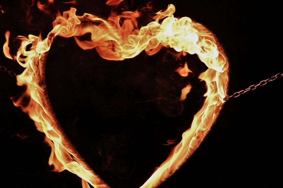 Fire, Heart, Fire Show, Wedding, Demonstration, Love